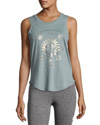 Spiritual Gangster All My Stars Muscle Tank Top Sage