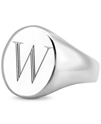 Sarah Chloe Initial Signet Ring In Sterling Silver W