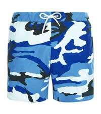Sandro Camouflage Swim Shorts Blue