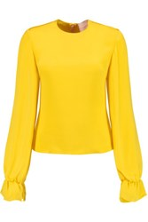 Roksanda Ilincic Elsie Silk Top Bright Yellow
