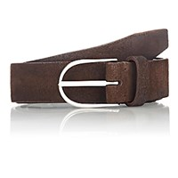 Felisi Men's Brushed Suede Belt Dark Brown