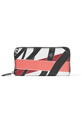 Emilio Pucci Printed Textured Leather Wallet Multi