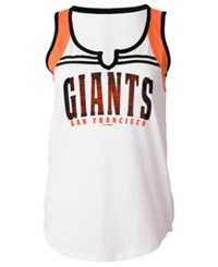 5Th And Ocean Women's San Francisco Giants V Notch Tank White Orange