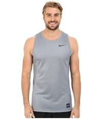 Nike Elite Hybrid Tank Top Cool Grey Heather Cool Grey Black Men's Sleeveless Gray