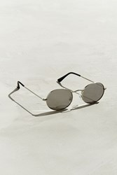 Urban Outfitters Flat Lens Metal Oval Sunglasses Silver