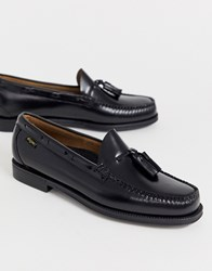 G.H. Bass And Co. Easy Weejuns Larkin Tassel Leather Loafers In Black