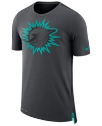 Nike Men's Miami Dolphins Travel Mesh T Shirt Anthracite