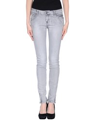 Byblos Denim Denim Trousers Women Grey