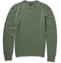 Polo Ralph Lauren Cable Knit Cashmere Sweater Green