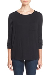 Cj By Cookie Johnson Long Sleeve Pocket Tee Black Jm