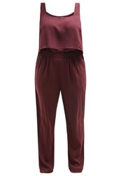 Junarose Jrmandalay Jumpsuit Vineyard Wine Dark Red