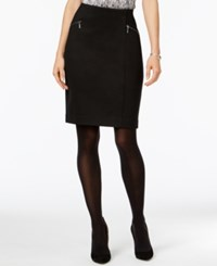 Alfani Zip Pocket Pencil Skirt Only At Macy's Deep Black