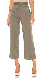 Atm Anthony Thomas Melillo Cotton Satin Pants In Green. Olive Drab