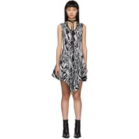 Thierry Mugler Black And White Tapestry A Line Dress