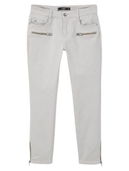Mango Cropped Skinny Trousers Grey