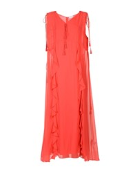 Max And Co. Long Dresses Coral