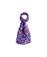 Forever Collectibles Chicago Cubs All Over Logo Infinity Scarf Blue