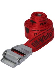 Off White 2.0 Logo Industrial Nylon Webbing Belt Red