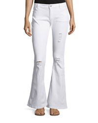 Nanette Nanette Lepore Canal Distressed Flare Jeans Bleached White