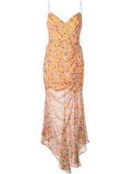 Nicholas Floral Print Dress Orange