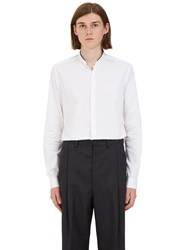 Lanvin High Stand Collared Shirt White