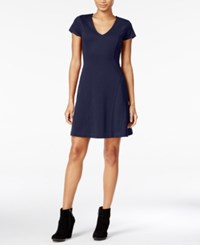 Maison Jules Short Sleeve Fit And Flare Dress Only At Macy's Blu Notte
