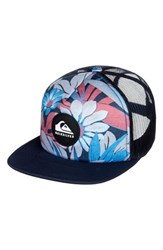 Quiksilver Quicksilver Faded Out Trucker Hat Blue Navy Blazer