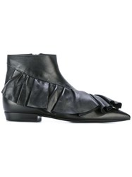 J.W.Anderson Fw01jwa Black Leather Fur Exotic Skins Leather