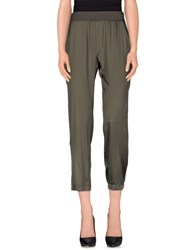 Niu' Trousers Casual Trousers Women Military Green