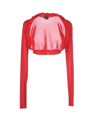 Pf Paola Frani Topwear Shrugs Women Red