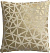 Cb2 Soiree Natural 16 Pillow With Feather Insert