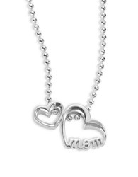 Alex Woo Little Words Mom Heart Necklace Silver