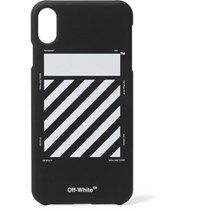 Off White Printed Iphone Xs Max Case Black