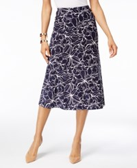 Jm Collection A Line Jacquard Skirt Only At Macy's Leaf Flow