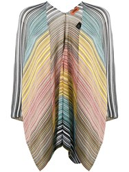 M Missoni Striped Poncho Neutrals