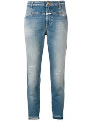 Closed Slim Fit Cropped Jeans Blue