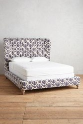 Anthropologie Thistle Printed Wingback Bed Indigo
