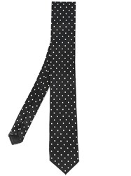 Dolce And Gabbana Polka Dot Tie Black