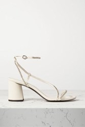 3.1 Phillip Lim Drum Crystal Embellished Leather Sandals Ivory