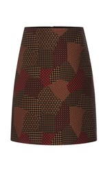 Rosetta Getty Patchwork Tie Jaquard Short A Line Skirt Multi