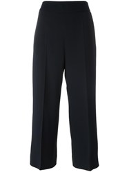 Max Mara 'S Straight Cropped Trousers Black