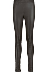 Iris And Ink Lila Stretch Leather Leggings Black