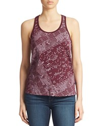 William Rast Bandana Print Tank Top Berry