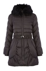 Dawn Levy Faux Fur Collar Jacket With Pockets Grey