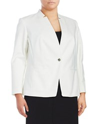 Vince Camuto Plus One Button Blazer New Ivory