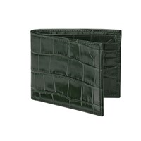 Aspinal Of London Billfold Wallet Forest Green