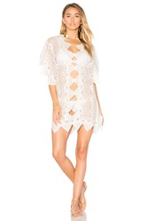 Nightcap Mayan Mini Caftan White