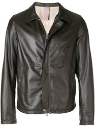Orciani Zipped Jacket Brown