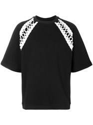 Ktz Lace Up Oversized T Shirt Black