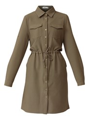 Lavand Shirt Lined Dress Khaki
